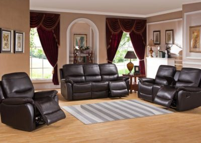 3 PC Set Leather Recliner-Surrey_Furniture_WareHouse-001