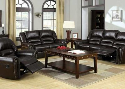 3 PC Set Leather Recliner-Surrey_Furniture_WareHouse