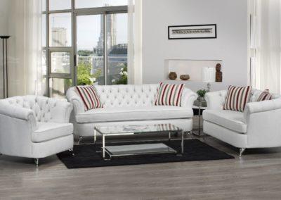 3 PC Set Modern Sofa Set white color-Surrey_Furniture_WareHouse