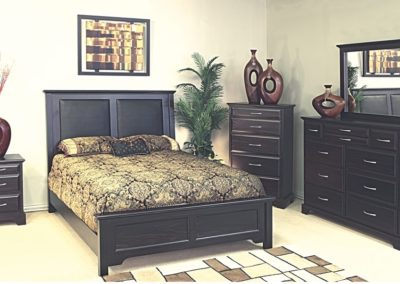 5 PC bedroom set black color