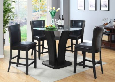 5 pc Counter Height Dining Table Glass Top-Surrey_Furniture_WareHouse