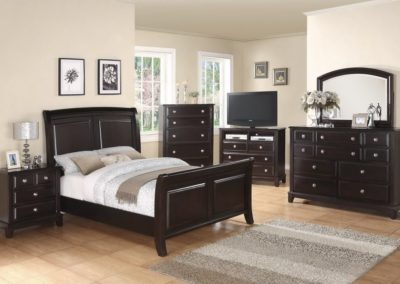 7 Pc Bedroom Suite Brown-Surrey_Furniture_WareHouse
