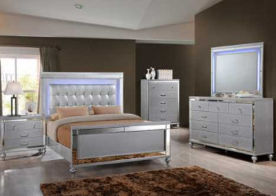 7 Pc Bedroom Suite Light Color Lighting Modern-Surrey_Furniture_WareHouse