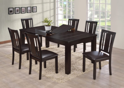 7 Pc Dining Table Modern Table and Chairs-Surrey_Furniture_WareHouse