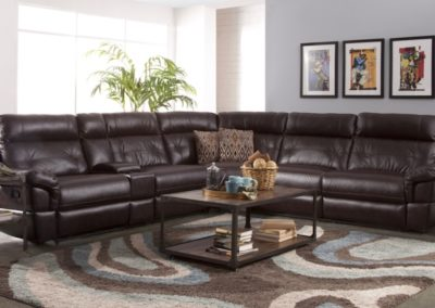 Brown Recliner sectional Sofa Set-Surrey_Furniture_WareHouse